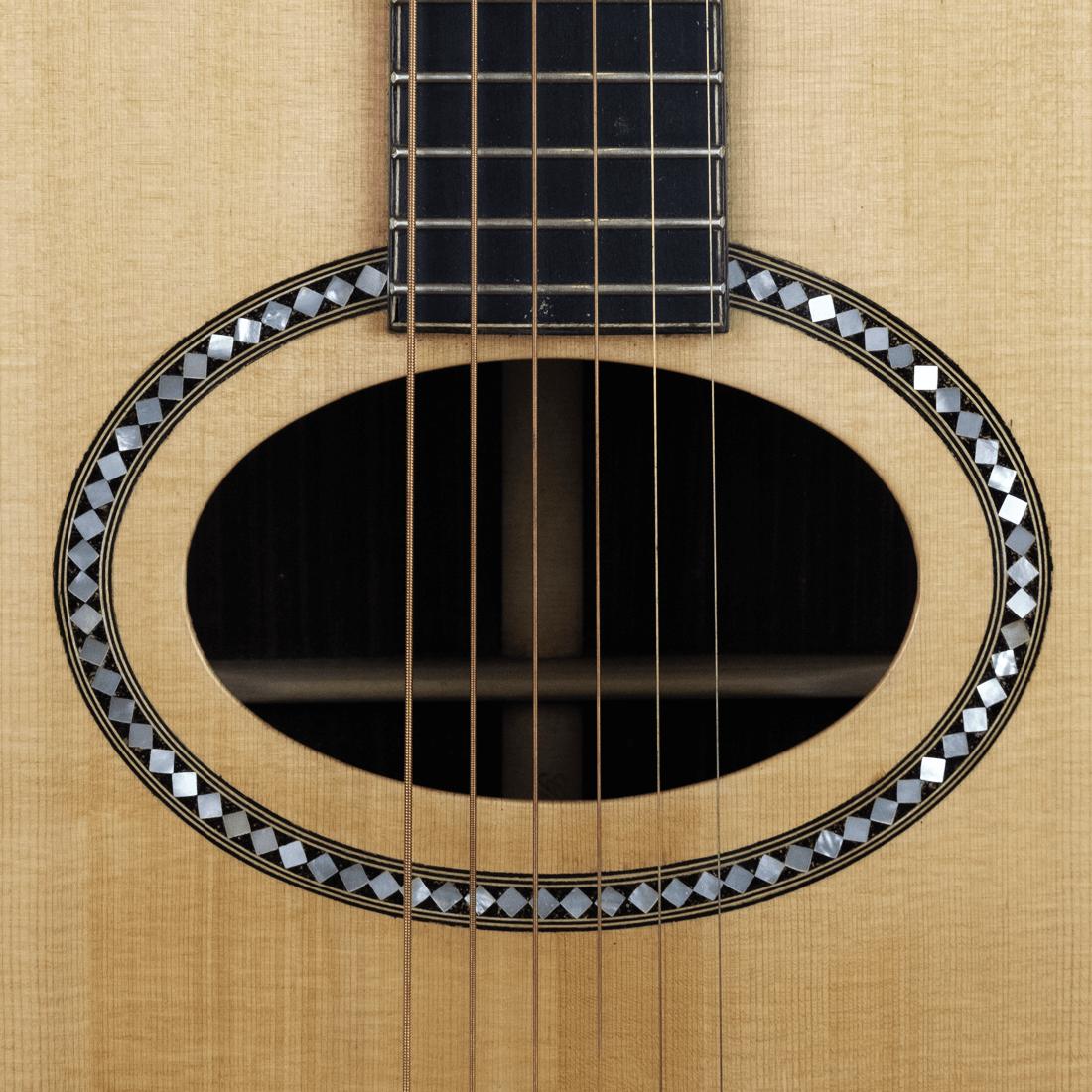 acoustic guitar rosewood ovalhole