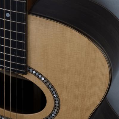 acoustic guitar rosewood side