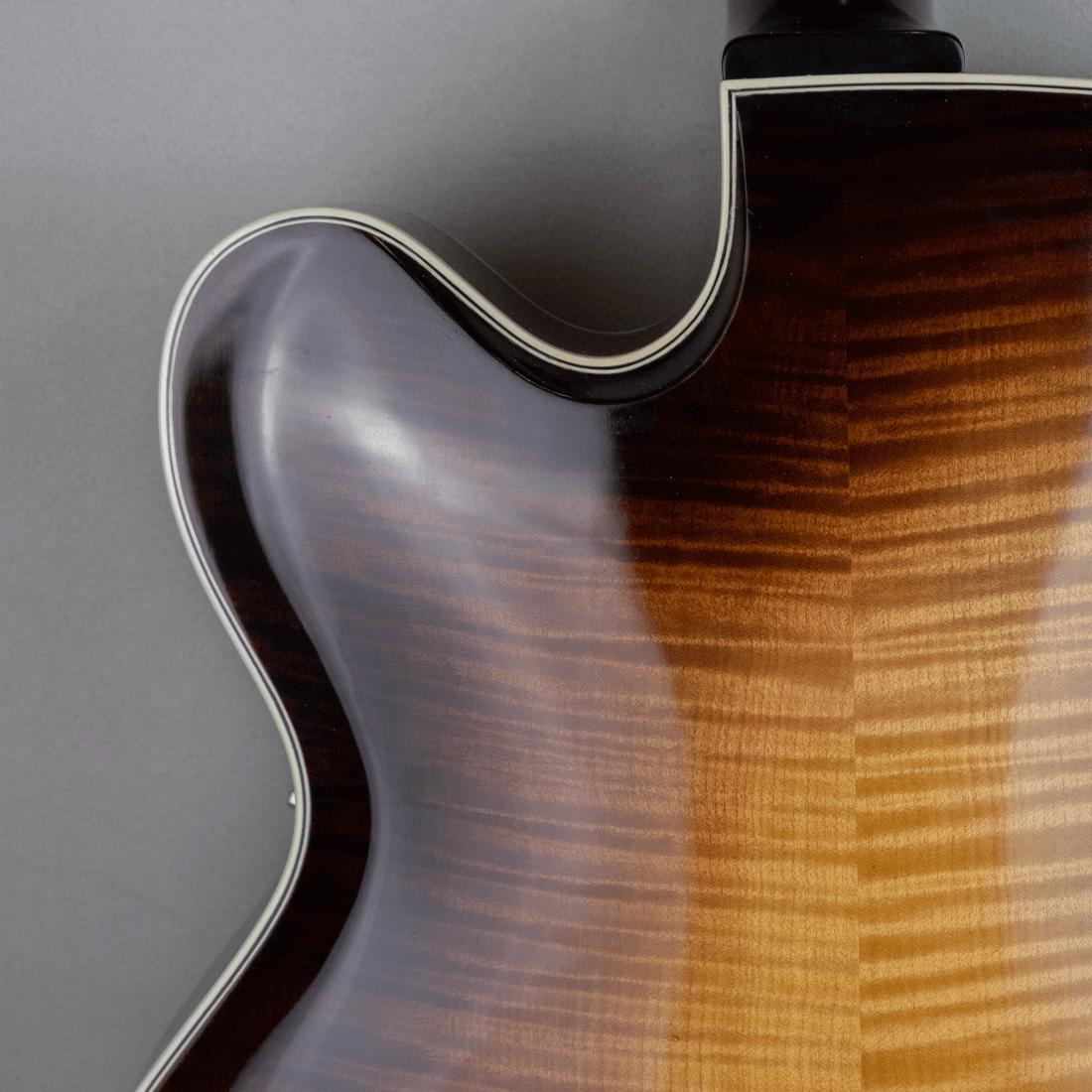 guitar standard jazz flamed maple